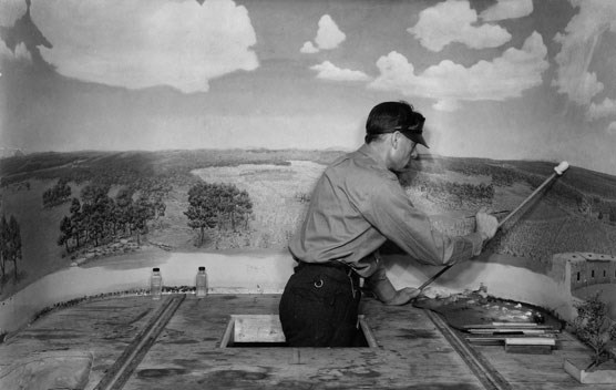 Installation of Diorama #4, 1939. NPS Photo.