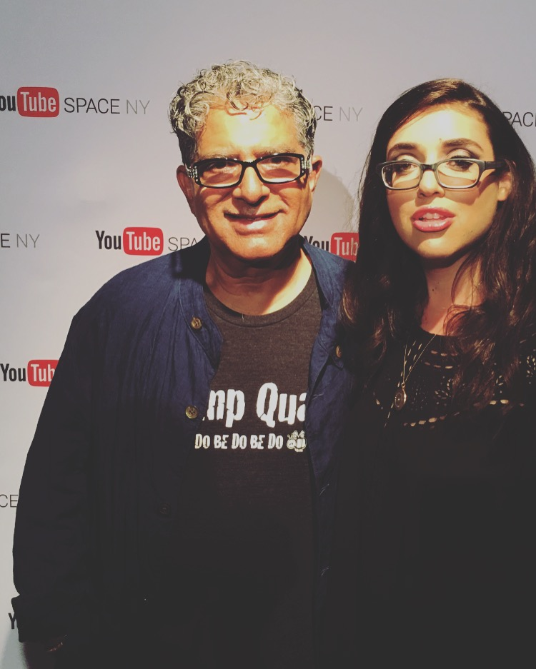 Aspen Matis and Deepak Chopra
