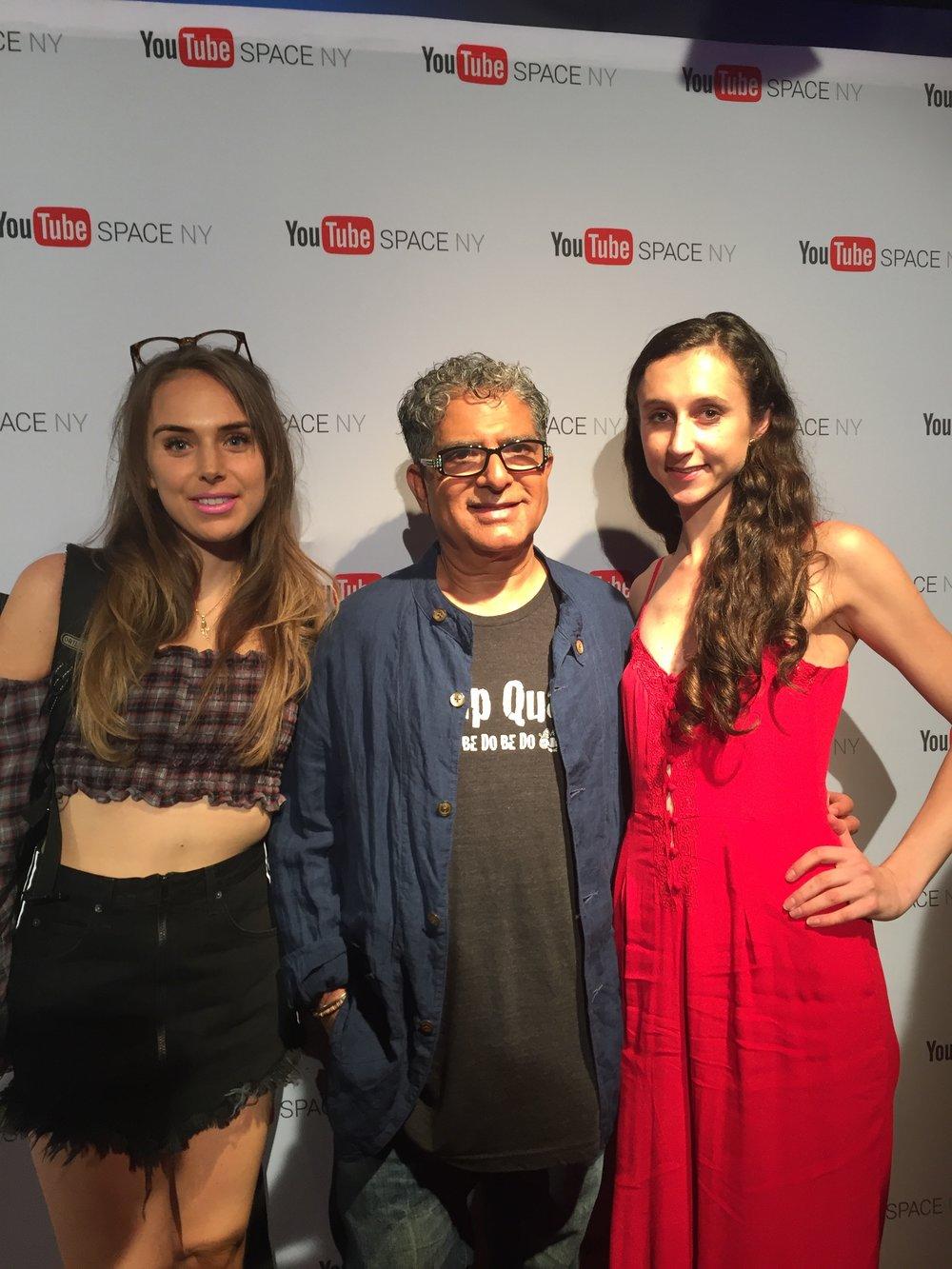 Lux Sommers, Deepak Chopra, Sara-Kate Astrove