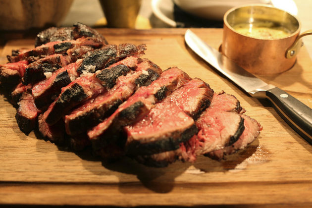 Chateaubriand + wine £59 -