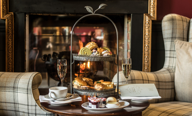Free glass of Champagne with every afternoon tea booking -