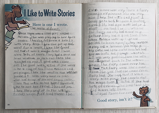 a story I wrote when I was about 8? - sweetly flits between third and first person! click on the image to view larger