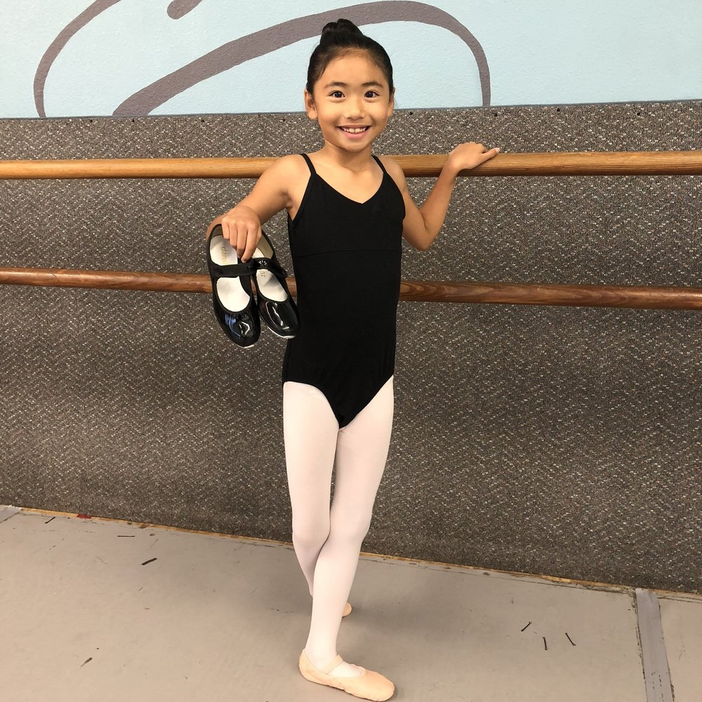 Combination Class Dress Code   - Pink ballet shoes (please purchase from a dance-wear store) - Black tap shoes - preferably with tap ties or black elastic instead of shoe laces - Pink tights - Solid color leotard - Hair in a bun or tied back (out of face)