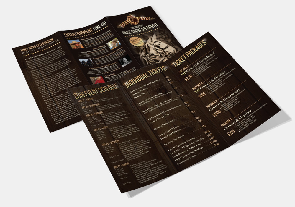 Mule Days 2018 Trifold Brochure