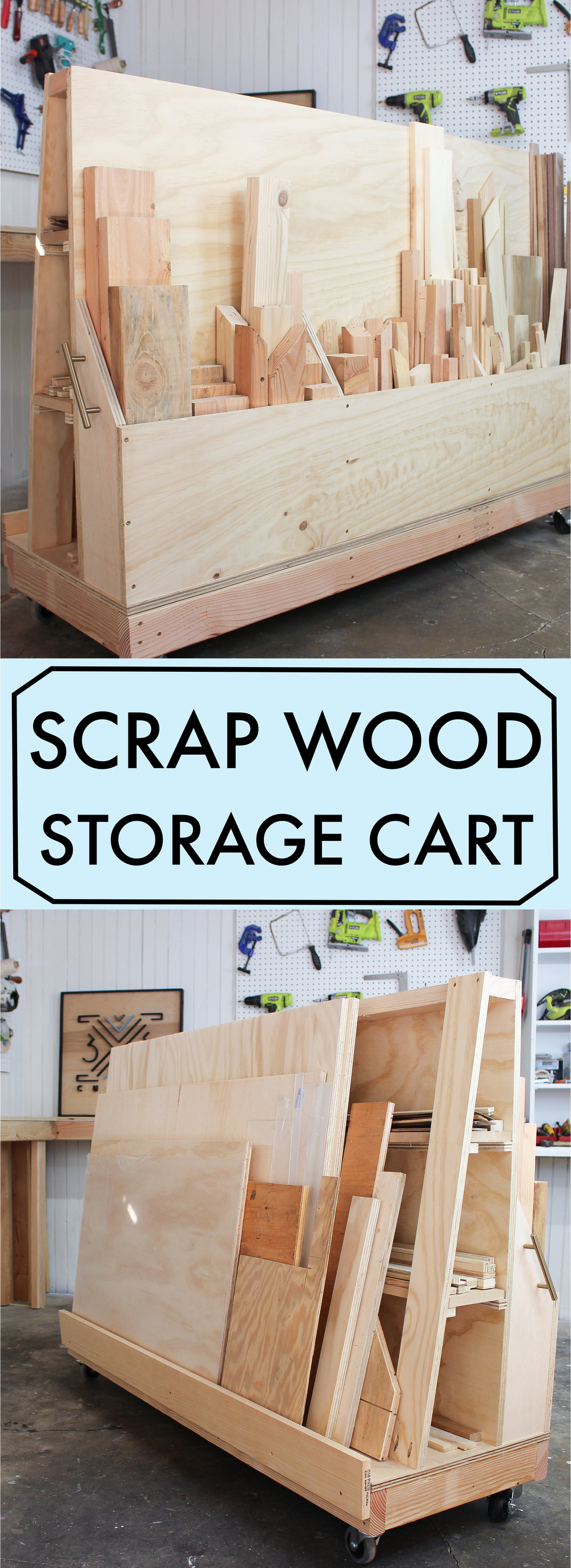 DIY Scrap Wood Storage Cart