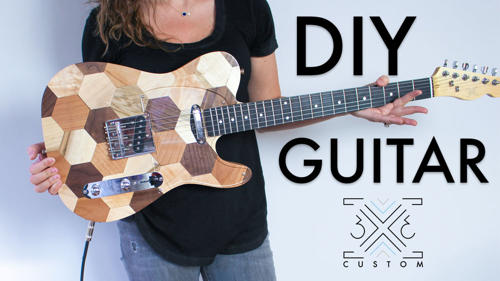 3x3 Custom DIY Hexagon Guitar