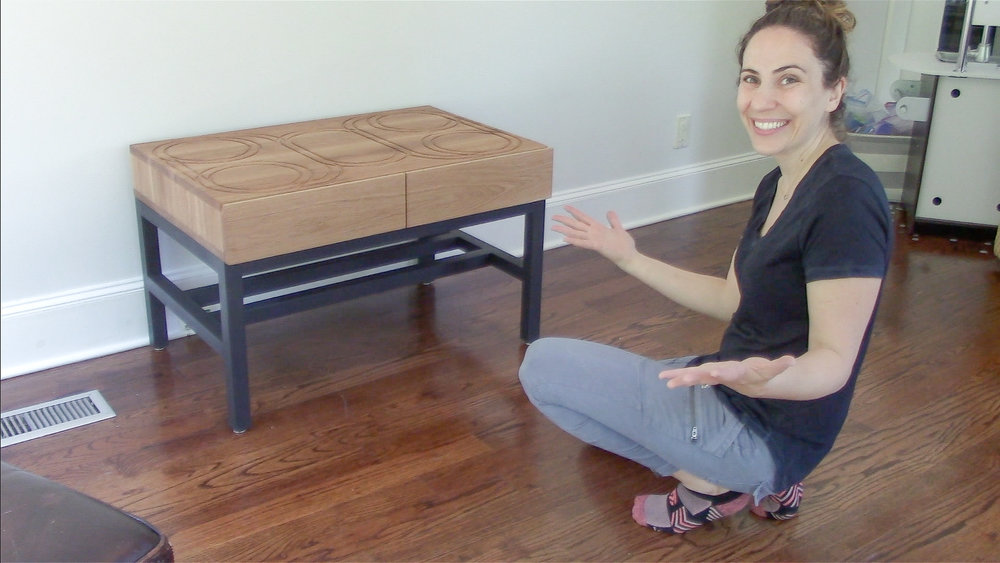 3x3 Custom Modern Train Table