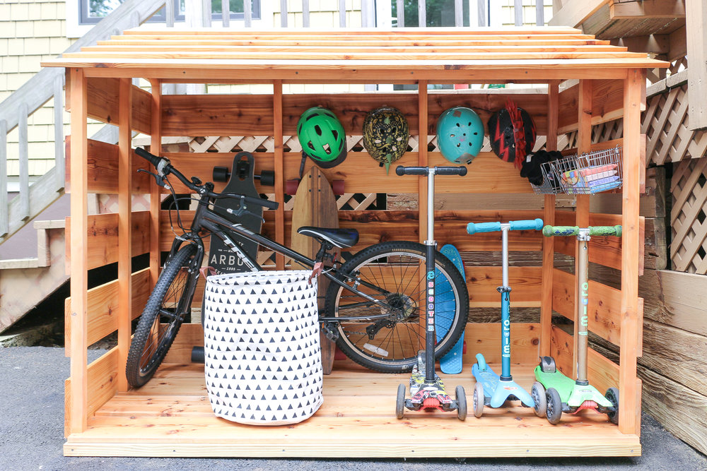 3x3 Custom DIY Bike Storage Shed