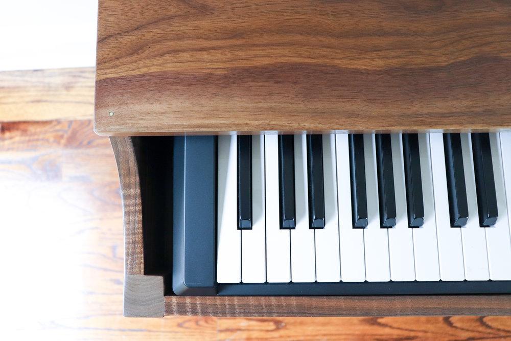 3x3 Custom Walnut Keyboard Stand
