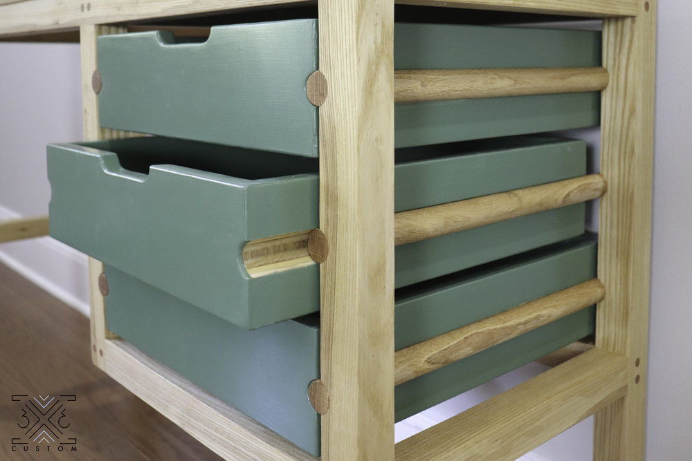 3x3 Custom Dowel Drawer Slides