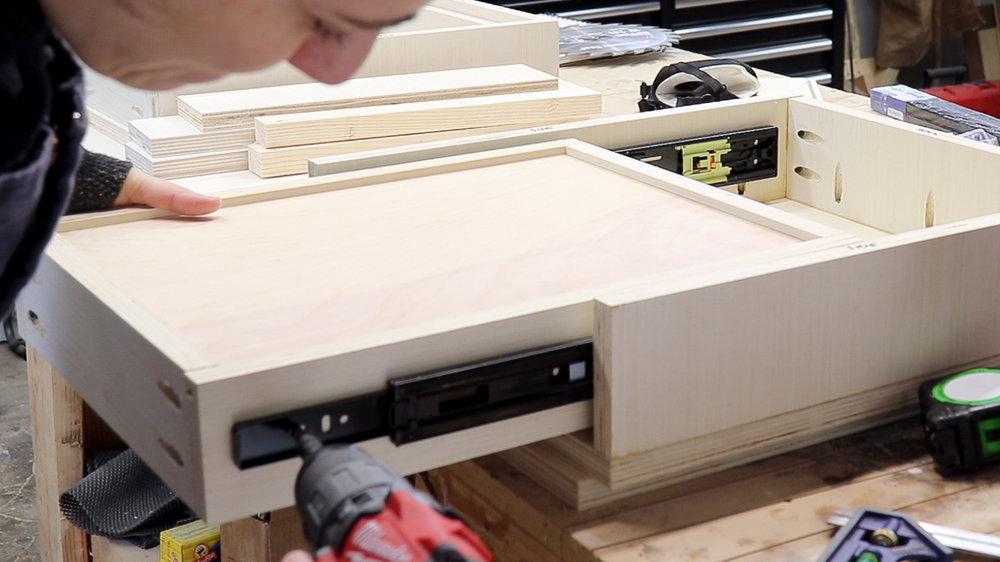 3x3 Custom Modern Vanity Desk