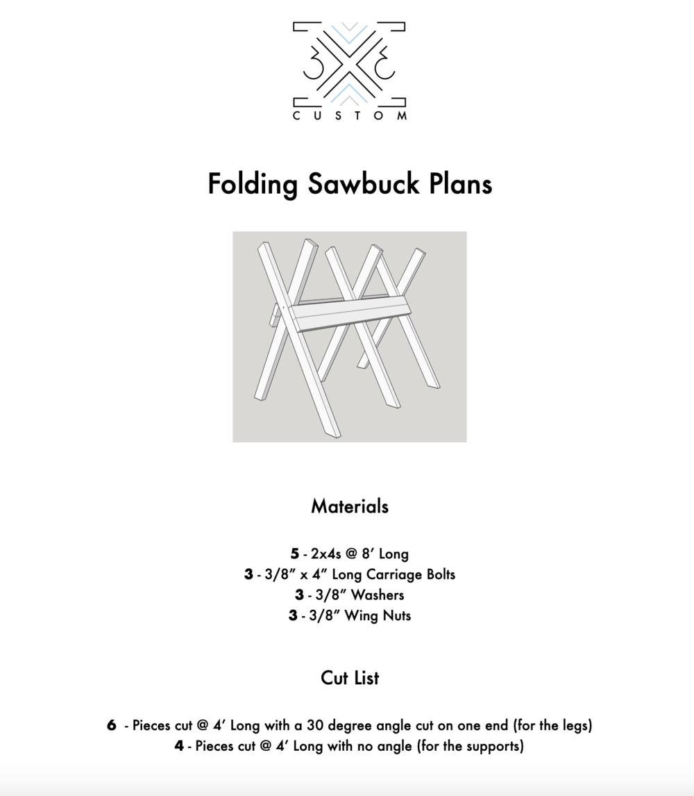 DIY Sawbuck Plans