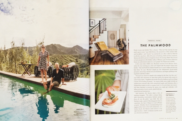 Sunset Magazine feature on The Palmwood. Kauai, Hawaii