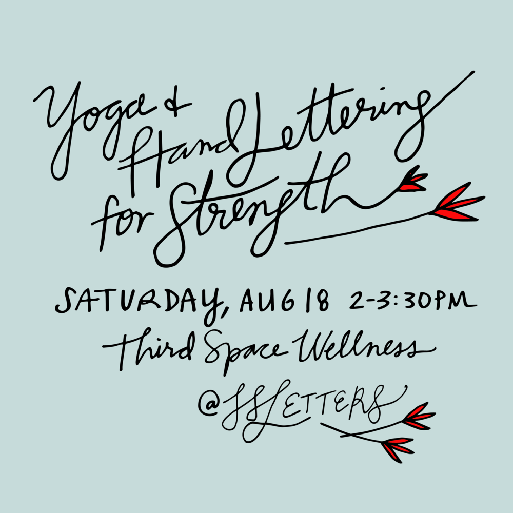 Yoga and Hand Lettering Workshop  for Strength.png