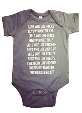 $18.95 | Robot Anti-Gender Roles Bodysuit