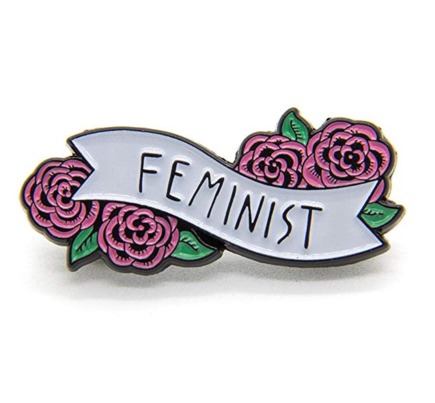$11.99 | Feminist Enamel Pin with Flowers