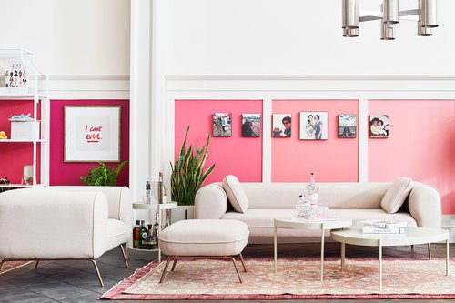 How To Make A Pink Statement In Your Living Room — Batch