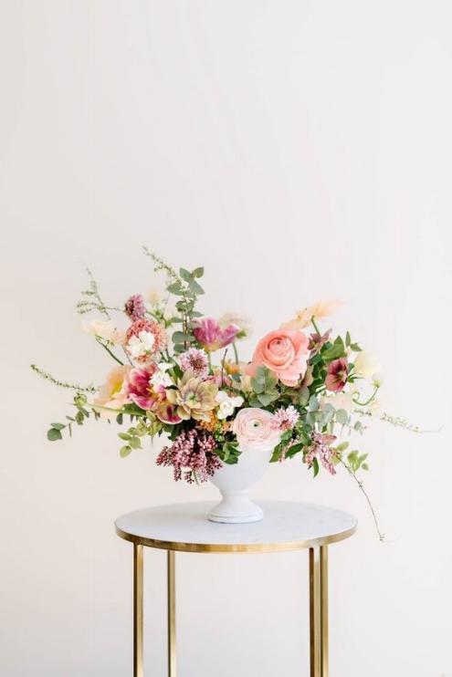 Pretty Pink Floral Centerpieces Batch