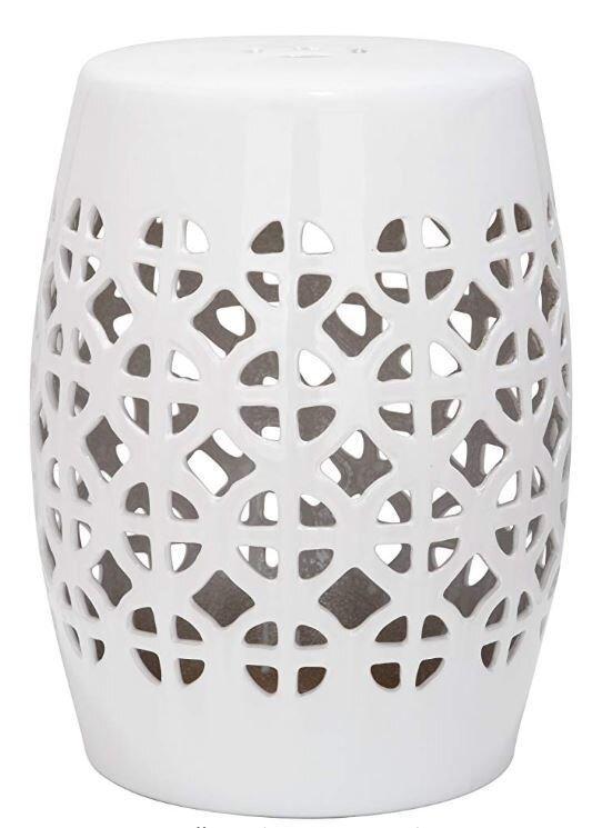 White Ceramic Garden Stool Batch