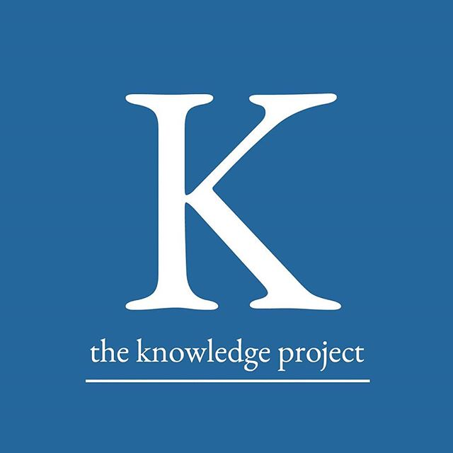 Our podcast recommendation of the week for you: The Knowledge Project. In the Knowledge Project, Shane Parrish follows his curiosity as he talks with remarkable people to uncover frameworks YOU can use to learn more in less time, make better decisions, and live a happier and more meaningful life. How useful is that!