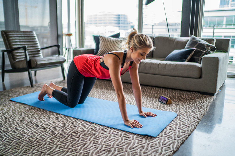Workout in the comfort of your home.