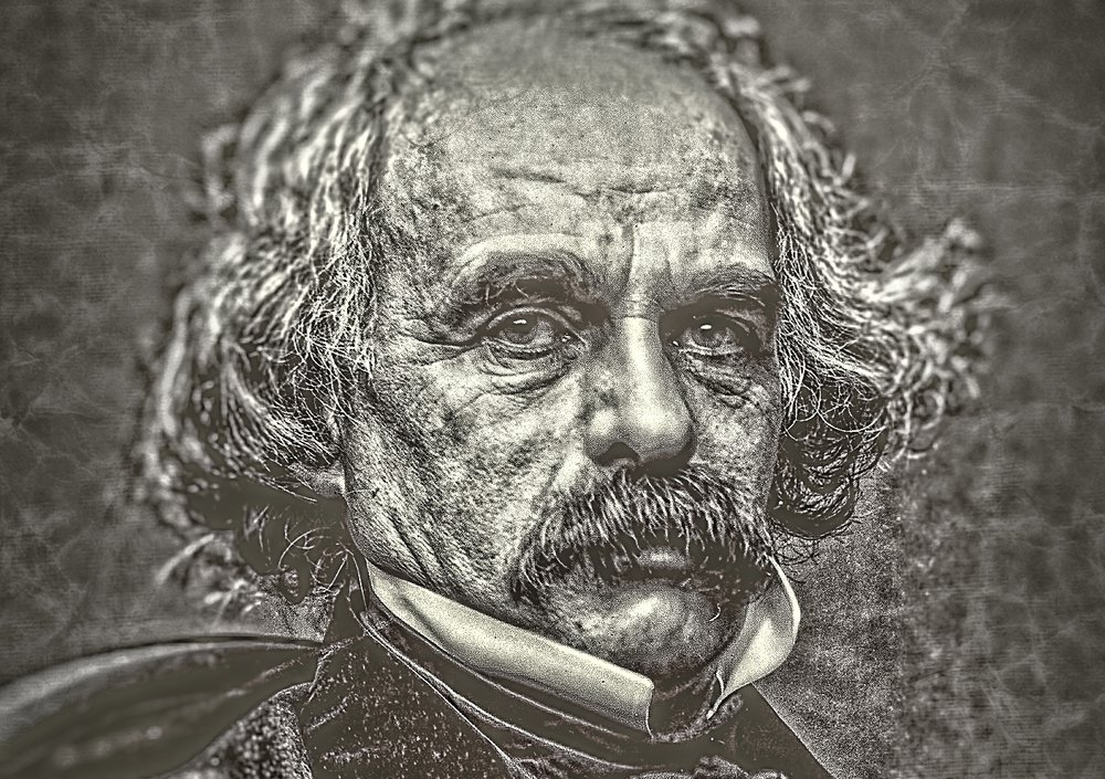 Nathaniel Hawthorne, 1862. Silver Chloride on Paper. Courtesy of Collection of Donald L. Stull.