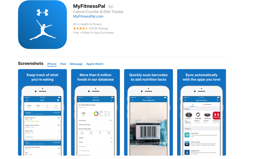 Description  Whether you want to lose weight, tone up, get healthy, change your habits, or start a new diet, you'll love MyFitnessPal.  • Consumer Reports #1 rated diet • PC Magazine Editor's Choice Selection • #1 Health and Fitness app for 4 years straight