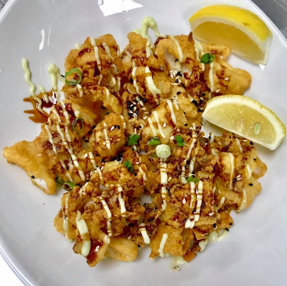 Calamari with Wasabi Aioli