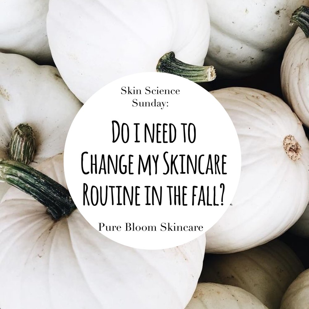 transitioning skin from summer to fall