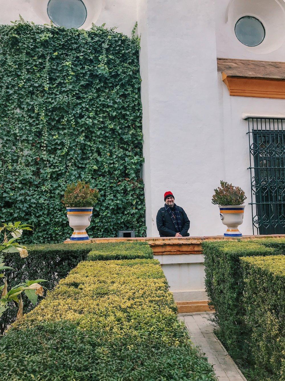 Señor Bruton in Real Alcázar.