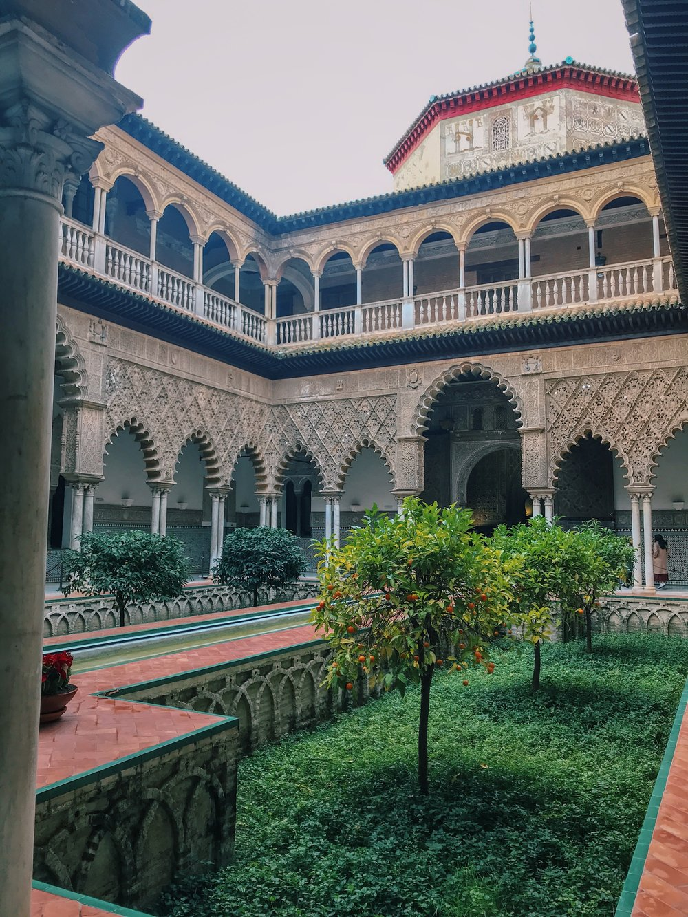 One of the courtyards in Real Alcázar.