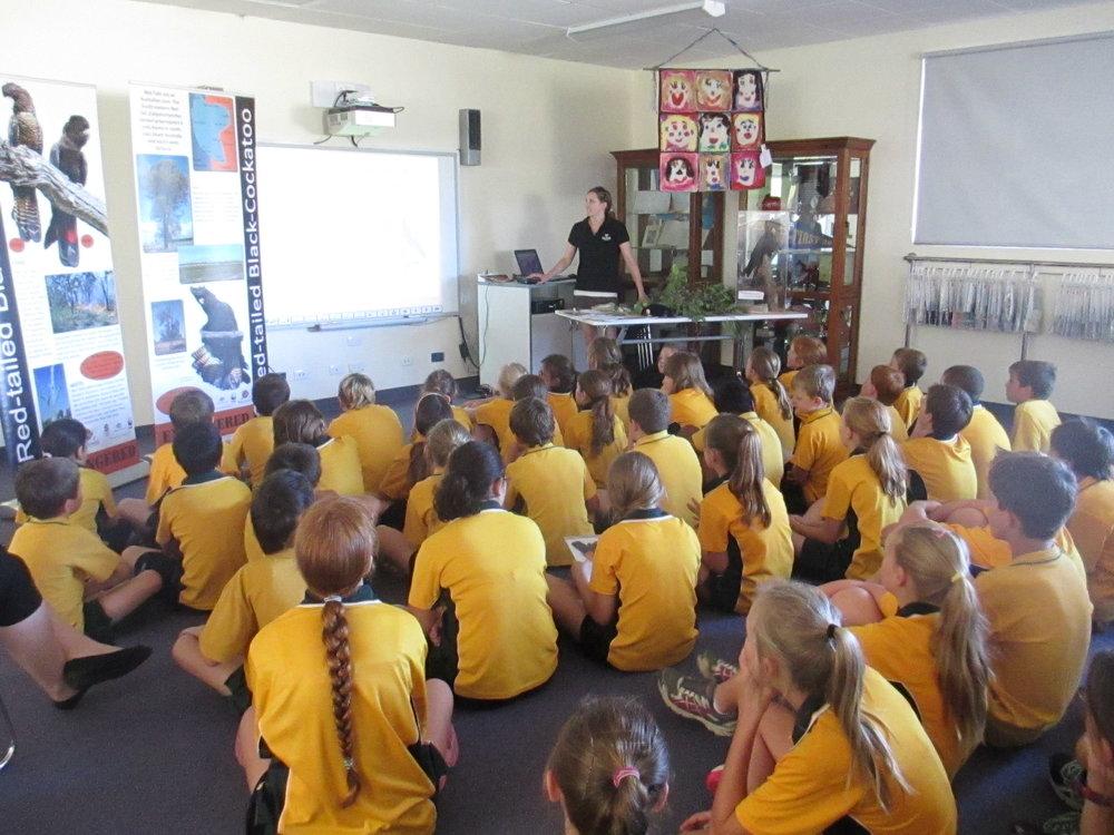 Glenburnie Students Kids helping cockies talk.JPG