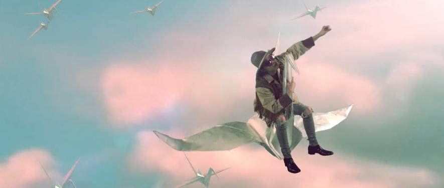 학을 타고 있는 기리보이 '호구' (2016)