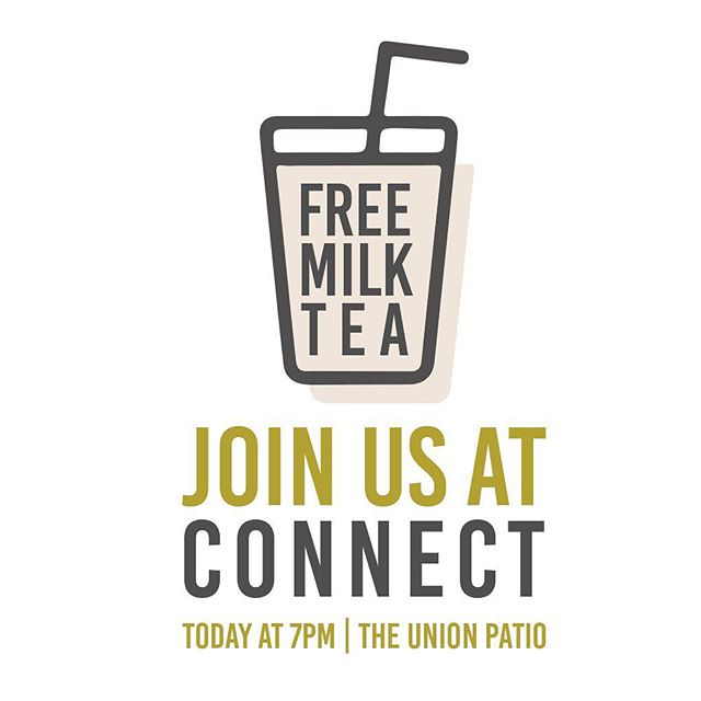 Our first welcome week event is tonight!!! Come and grab a cup for a convo, meet new people, and hear about AACM. We love milk tea and new friends. #welcometoaacm