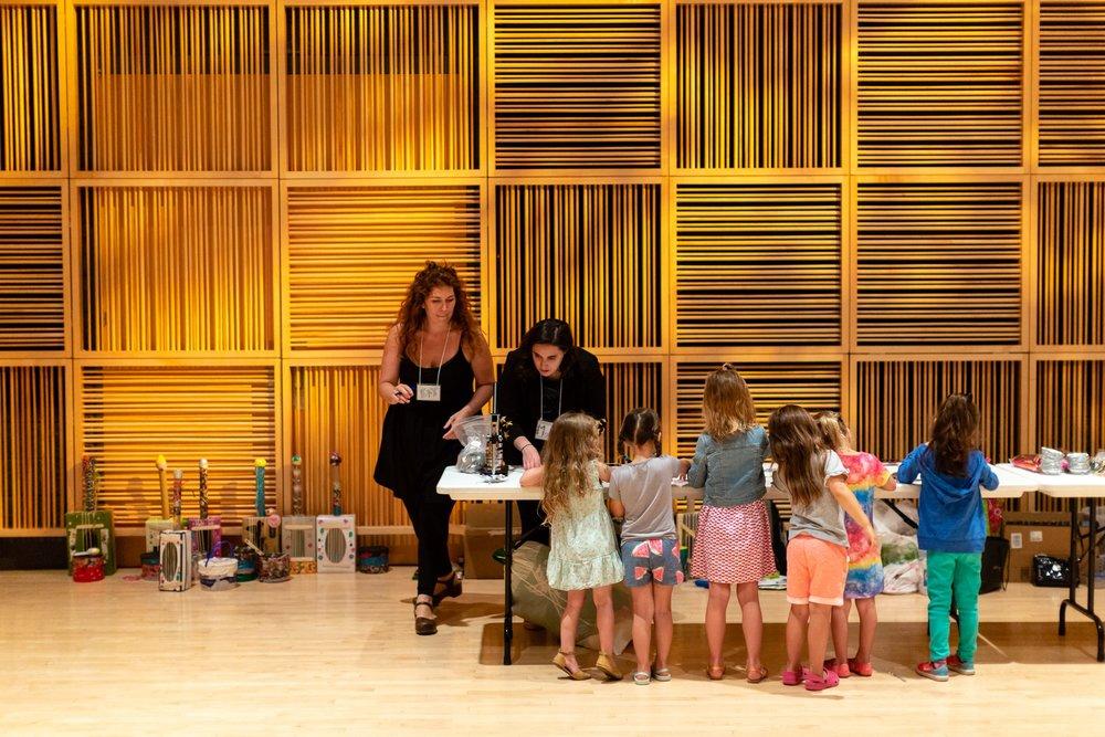 Program Director, Kat Ludwick (far left), at 2018's Little Girls Rock camp.