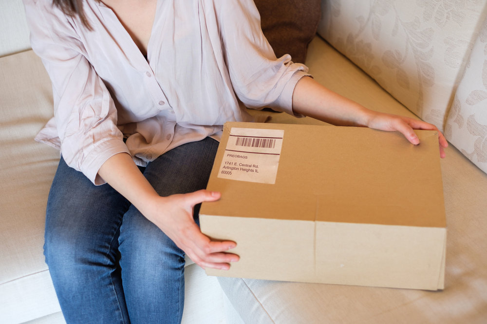 Print our pre-paid, insured Fedex label - Inquire if your transaction qualifies for overnight shipping. Once we receive the handbag, we'll inspect the condition and authenticate it immediately.