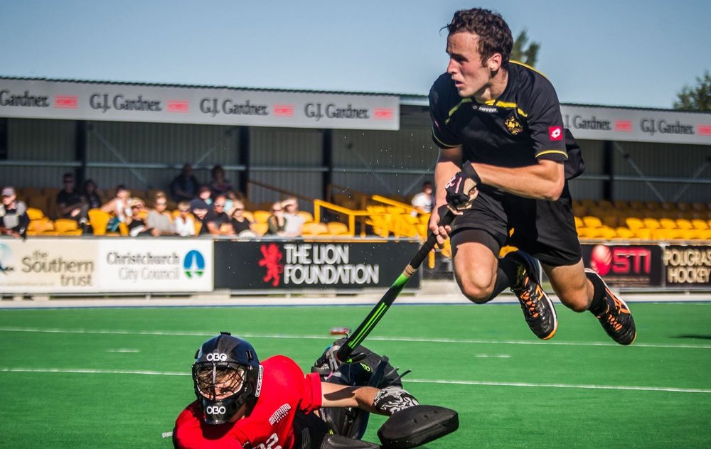 Lochie during an attempt on goal