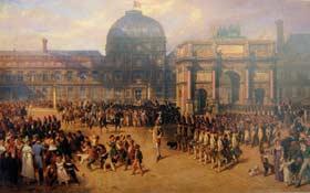 圖一 依波利特.貝朗結與亞德利安多薩 「帝國時期之檢閱」,1862年, 油彩、 畫布,巴黎奧塞美術館