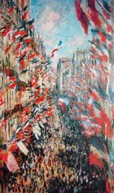 圖二 莫內 「蒙特吉爾街」,1878年,油彩、 畫布,巴黎奧塞美術館
