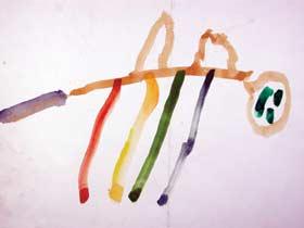 圖四 楊子毓 「駱駝」 三歲半 台北蘇荷兒童美術館