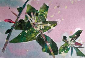 Figure 1. YaTing Kang (6 years old)     Flowers picked and pasted   Torn paper and pasted