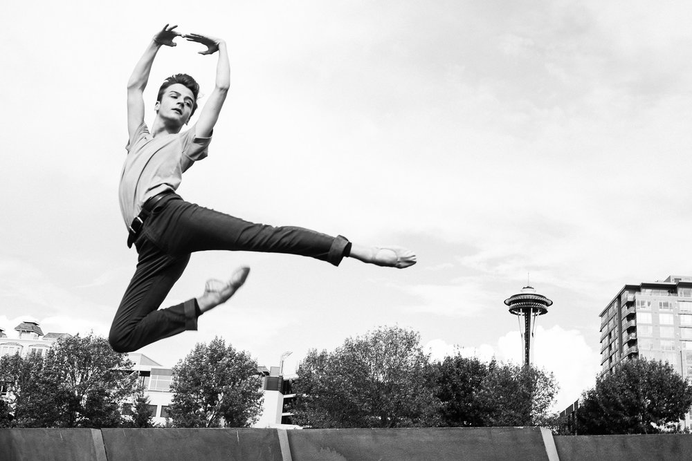 Space Needle Black and White Ballet Photograph Seattle