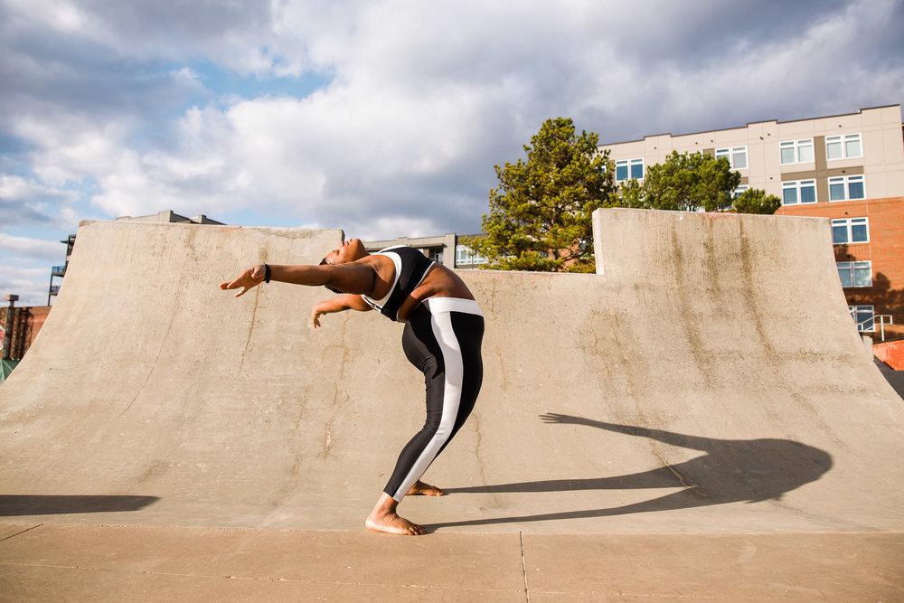 Jessamyn Stanley yogi in downtown Durham, NC