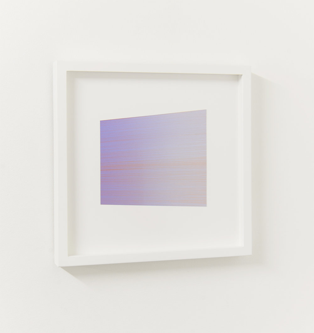 Michelle Eskola  Untitled (Algorithms/Apparitions)  2018 framed pigment on paper 30 x 25 cm