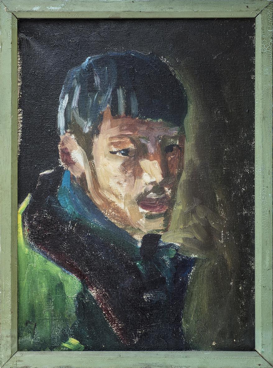 赵文量   《十年成痞》,1977年  36X48cm 布面油画