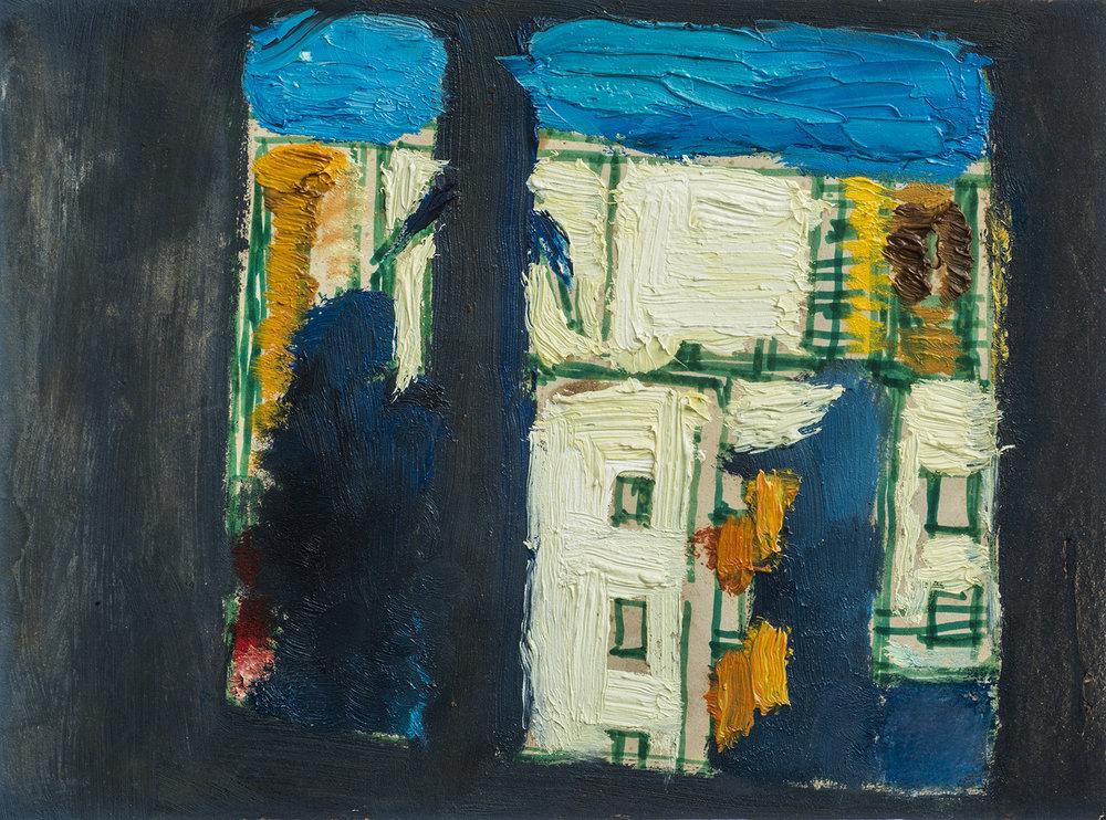 杨雨澍   《窗外》,2002年  15X20cm 纸本油画