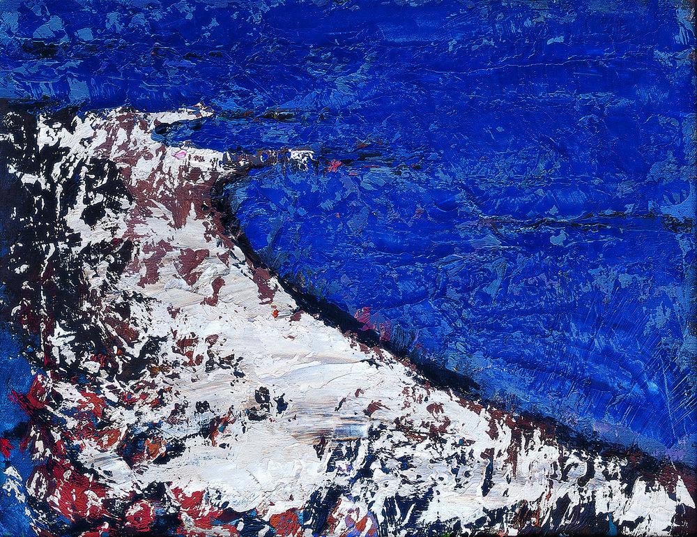 Yang Shuyu   Deserted Beach, 1985  39X30cm Oil on Canvas