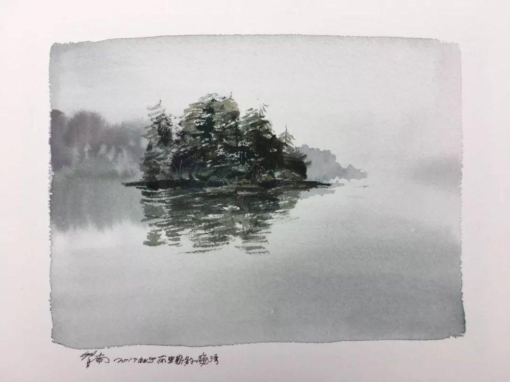 蒋智南,《布里斯托尔写生系列作品9》,水彩,38×28cm,2017年