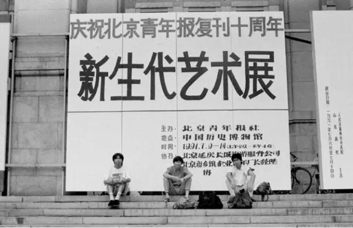 新生代艺术展,王友身、周彦、庞磊在中国历史博物馆,1991年