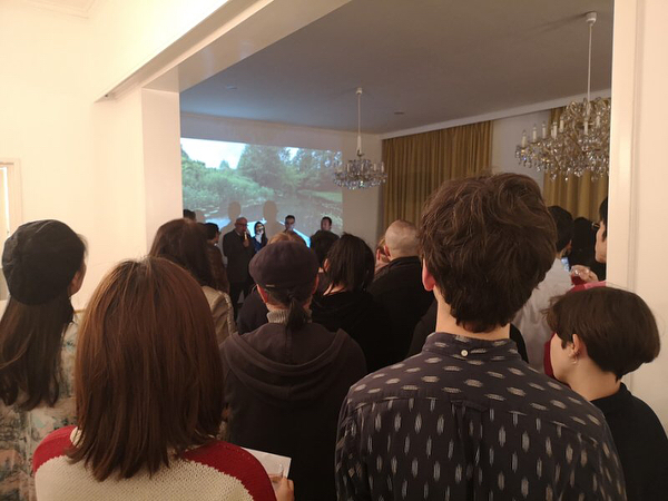 """Last night our artists in residence Arvid&Marie and us were at Austrian Residency celebrating the opening of """"tangentcy""""! 🥳🥳"""
